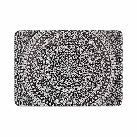 "Nika Martinez ""Mandala Bandana"" Black Abstract Memory Foam Bath Mat - KESS InHouse"