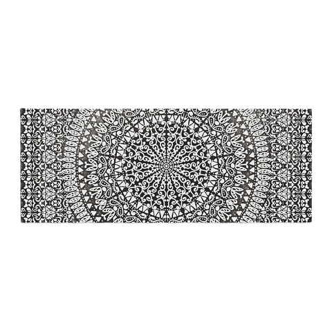 "Nika Martinez ""Mandala Bandana"" Black Abstract Bed Runner - KESS InHouse"