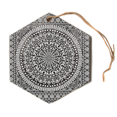 "Nika Martinez ""MANDALA BANDANA""  Hexagon Holiday Ornament"