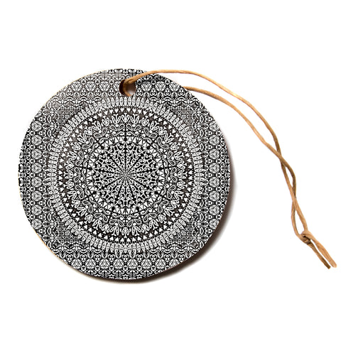 "Nika Martinez ""MANDALA BANDANA""  Circle Holiday Ornament"