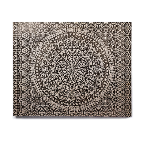 "Nika Martinez ""Mandala Bandana"" Black Abstract Birchwood Wall Art - KESS InHouse  - 1"