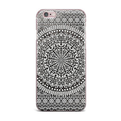 "Nika Martinez ""Mandala Bandana"" Black Abstract iPhone Case - KESS InHouse"