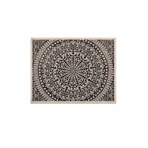 "Nika Martinez ""Mandala Bandana"" Black Abstract KESS Naturals Canvas (Frame not Included) - KESS InHouse  - 1"