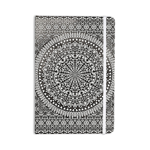 "Nika Martinez ""Mandala Bandana"" Black Abstract Everything Notebook - KESS InHouse  - 1"