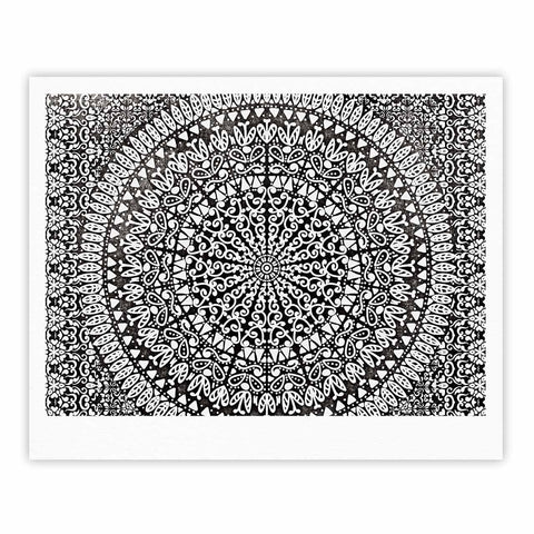 "Nika Martinez ""Mandala Bandana"" Black Abstract Fine Art Gallery Print - KESS InHouse"
