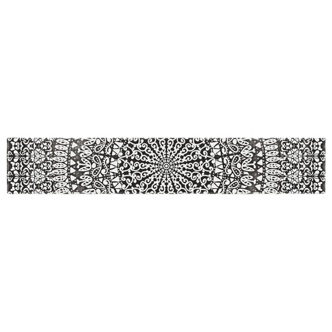 "Nika Martinez ""Mandala Bandana"" Black Abstract Table Runner - KESS InHouse  - 1"