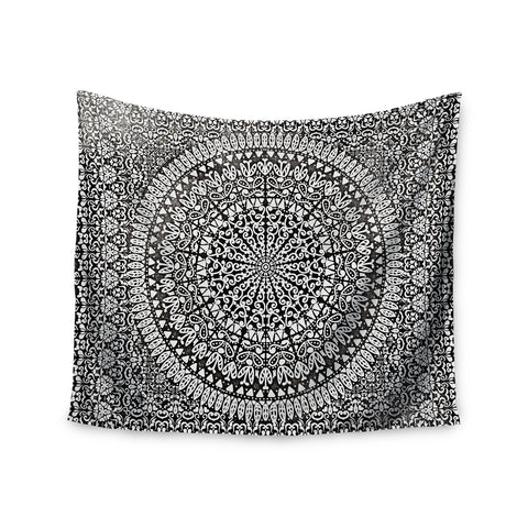 "Nika Martinez ""Mandala Bandana"" Black Abstract Wall Tapestry - KESS InHouse  - 1"