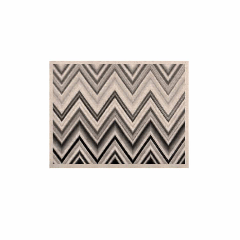 "Nika Martinez ""Seventies Chevron In BW"" Black Pattern KESS Naturals Canvas (Frame not Included) - KESS InHouse  - 1"