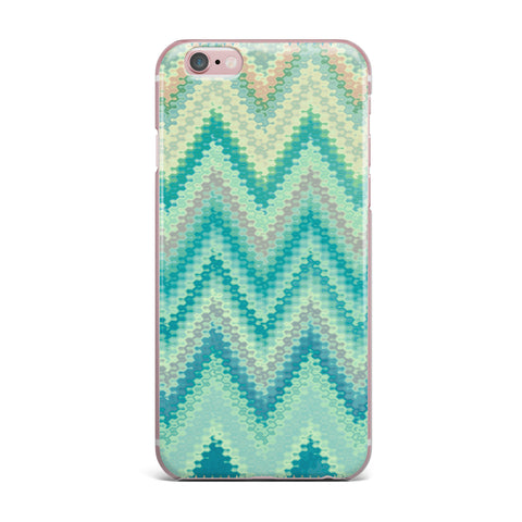 "Nika Martinez ""Seventies Emerald Chevron"" Green Abstract iPhone Case - KESS InHouse"
