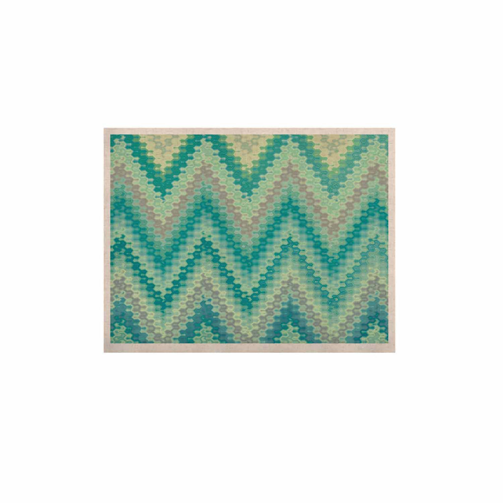 "Nika Martinez ""Seventies Emerald Chevron"" Green Abstract KESS Naturals Canvas (Frame not Included) - KESS InHouse  - 1"