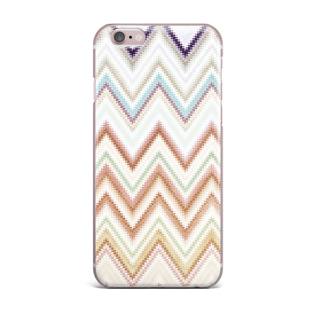 "Nika Martinez ""Seventies Chevron"" Beige Pattern iPhone Case - KESS InHouse"