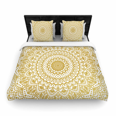 "Nika Martinez ""GOLD MANDALA"" Woven Duvet - Outlet Item"