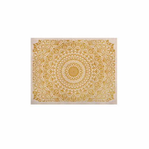 "Nika Martinez ""Gold Mandala"" Gold White Illustration KESS Naturals Canvas (Frame not Included) - KESS InHouse  - 1"