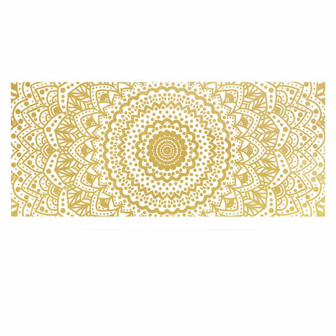 "Nika Martinez ""Gold Mandala"" Gold White Illustration Luxe Rectangle Panel - KESS InHouse  - 1"