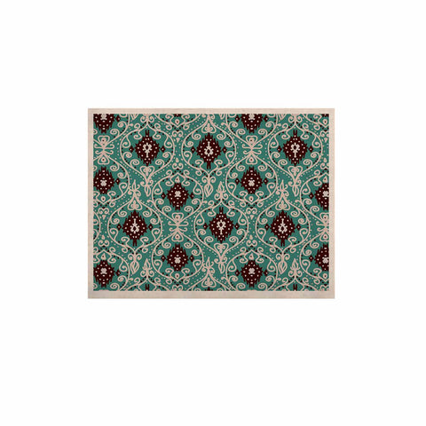 "Nika Martinez ""Bohemian Paisley Pattern"" Green Brown Digital Illustration KESS Naturals Canvas (Frame not Included)"