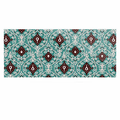 "Nika Martinez ""Bohemian Paisley Pattern"" Green Brown Digital Illustration Luxe Rectangle Panel"