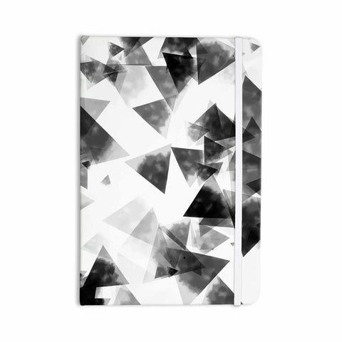 "Monica Martinez ""INKY TRIANGLES"" Black White Illustration Everything Notebook - Outlet Item"