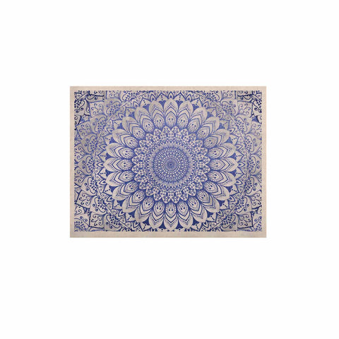 "Nika Martinez ""BOHEMIAN VIBES MANDALA IN BLUE"" Blue White Arabesque Abstract Illustration KESS Naturals Canvas (Frame not Included)"