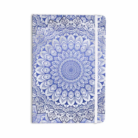 "Nika Martinez ""BOHEMIAN VIBES MANDALA IN BLUE"" Blue White Arabesque Abstract Illustration Everything Notebook"