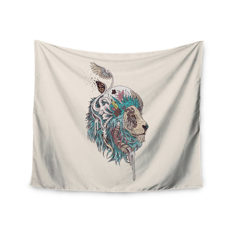 "Mat Miller ""Unbound Autonomy"" Abstract Lion Wall Tapestry - Outlet Item - KESS InHouse"