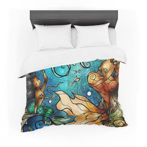 "Mandie Manzano ""Under The Sea"" Mermaids Featherweight Duvet Cover - Outlet Item"