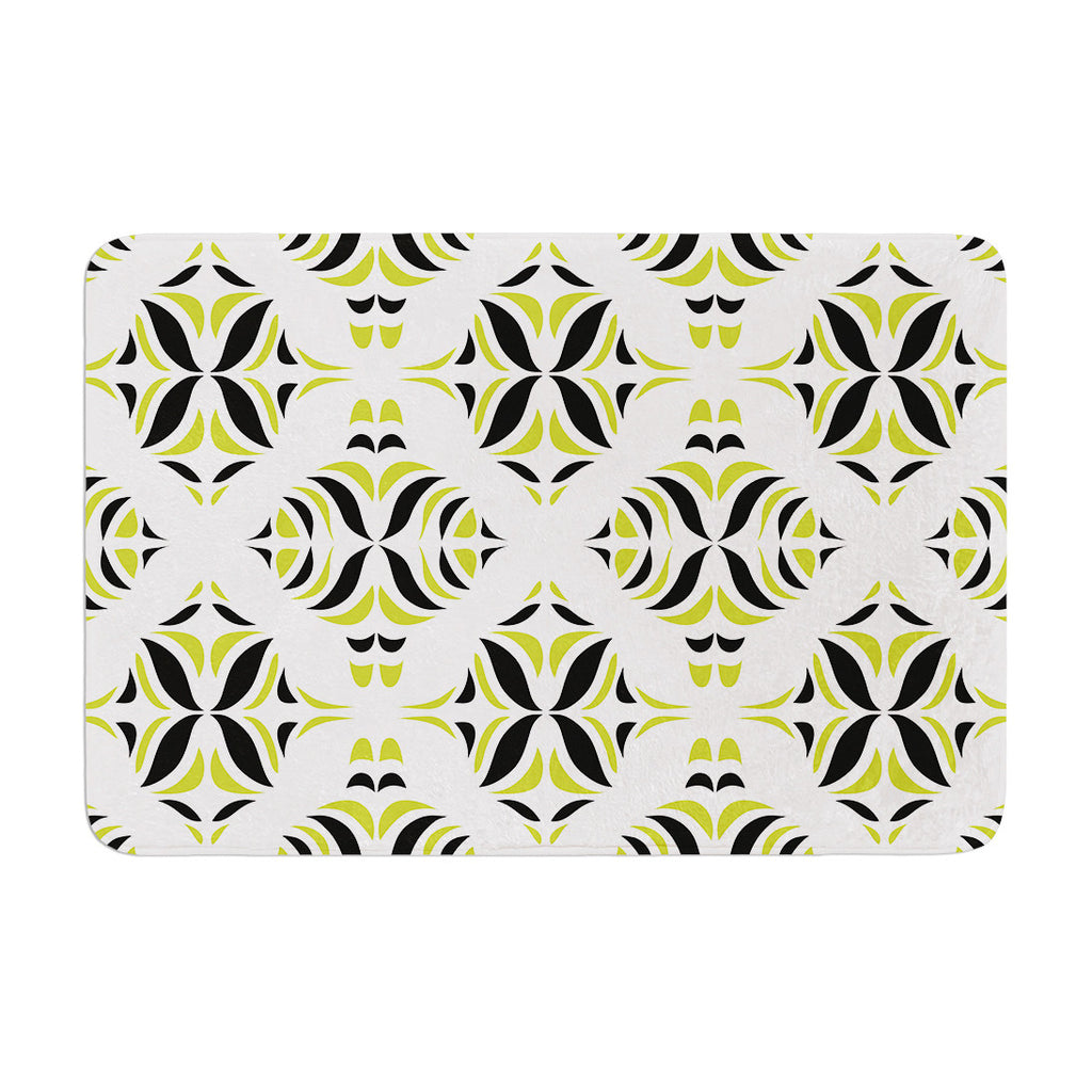 "Miranda Mol ""Lime Green Rainforest"" Memory Foam Bath Mat - KESS InHouse"