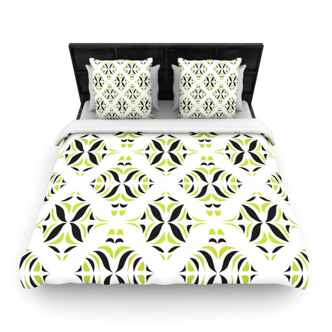 "Miranda Mol ""Lime Green Rainforest""  Woven Duvet Cover - Outlet Item"