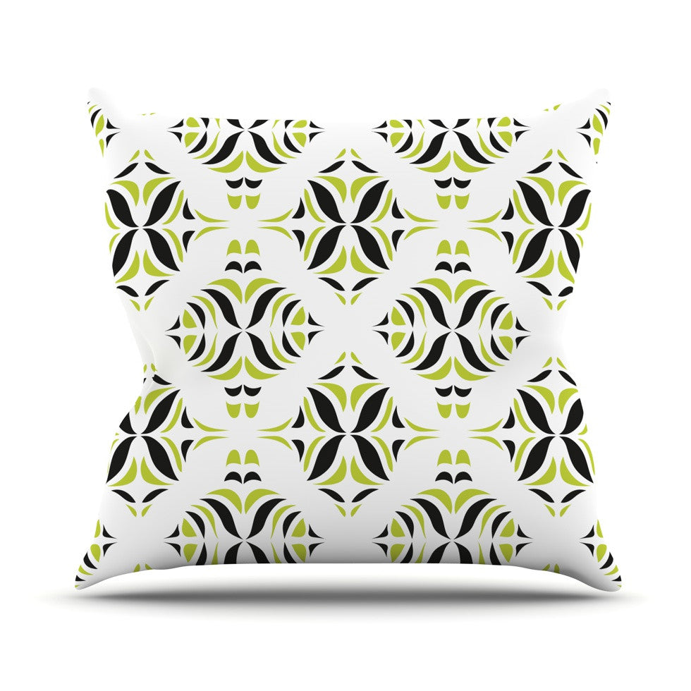 "Miranda Mol ""Lime Green Rainforest"" Throw Pillow - KESS InHouse  - 1"
