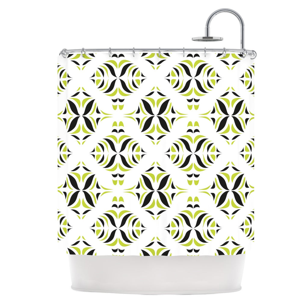 "Miranda Mol ""Lime Green Rainforest"" Shower Curtain - KESS InHouse"