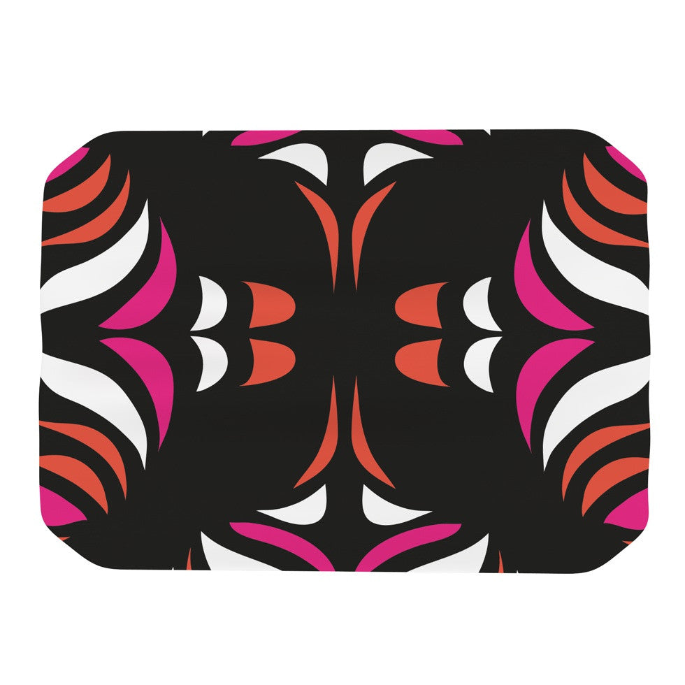 "Miranda Mol ""Magenta Orange Hawaiian Retro"" Place Mat - KESS InHouse"