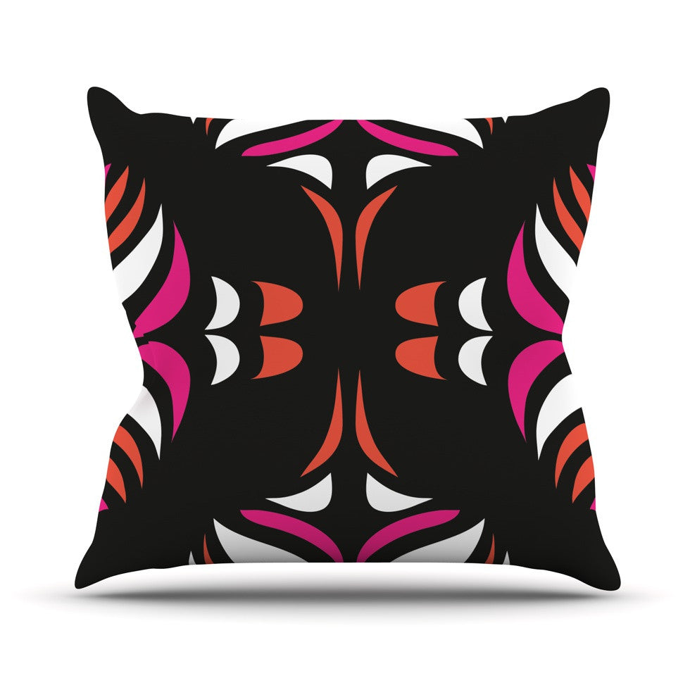 "Miranda Mol ""Magenta Orange Hawaiian Retro"" Throw Pillow - KESS InHouse  - 1"