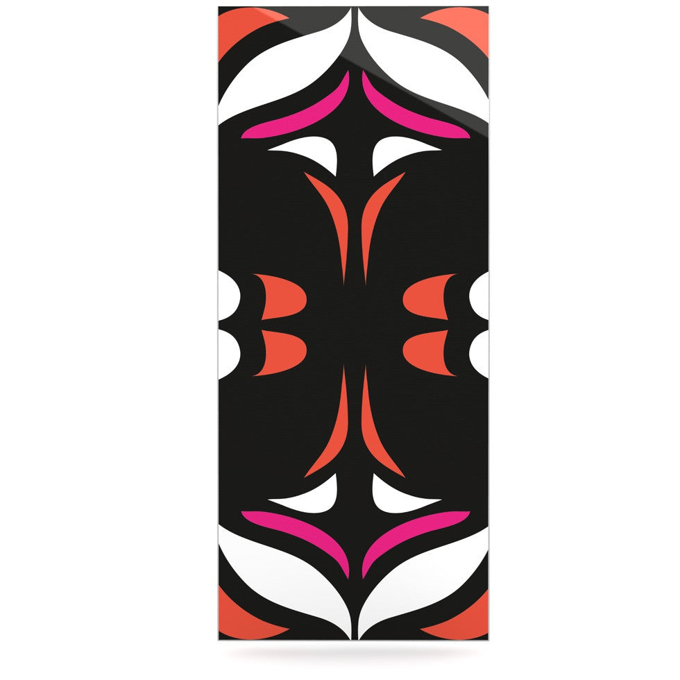"Miranda Mol ""Magenta Orange Hawaiian Retro"" Luxe Rectangle Panel - KESS InHouse  - 1"