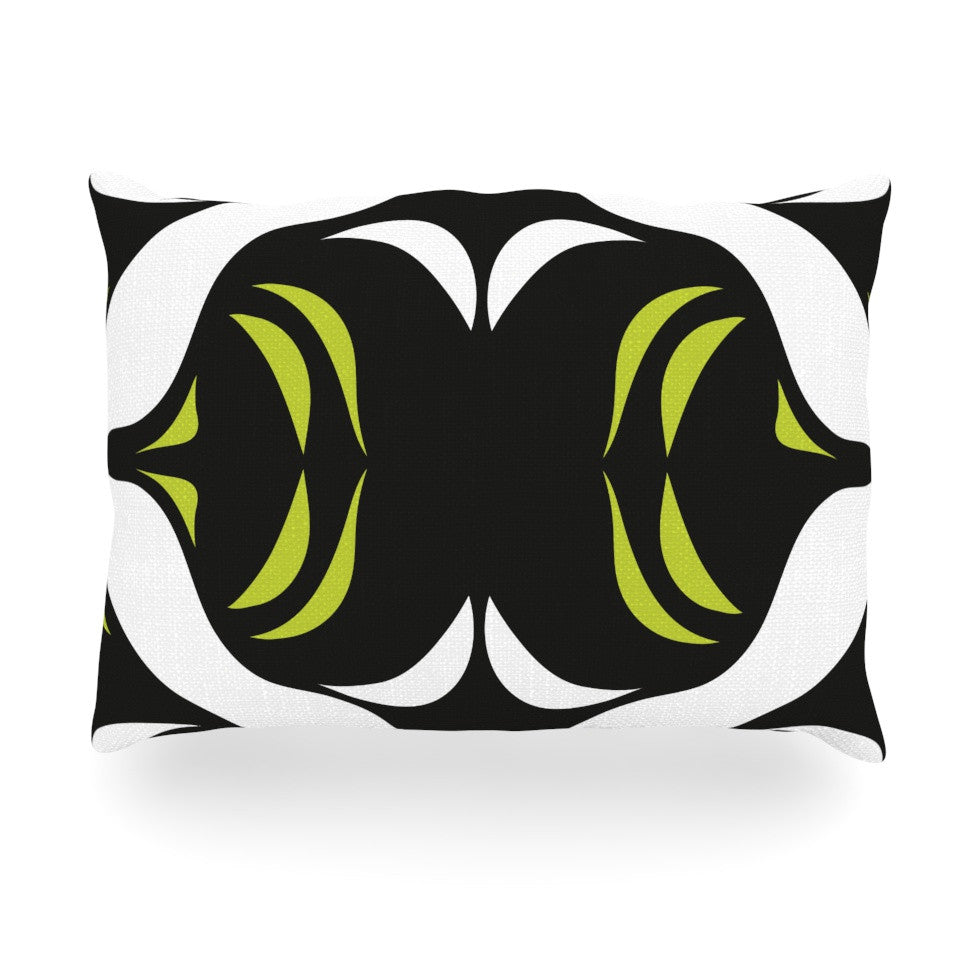 "Miranda Mol ""Green White Jaws"" Oblong Pillow - KESS InHouse"