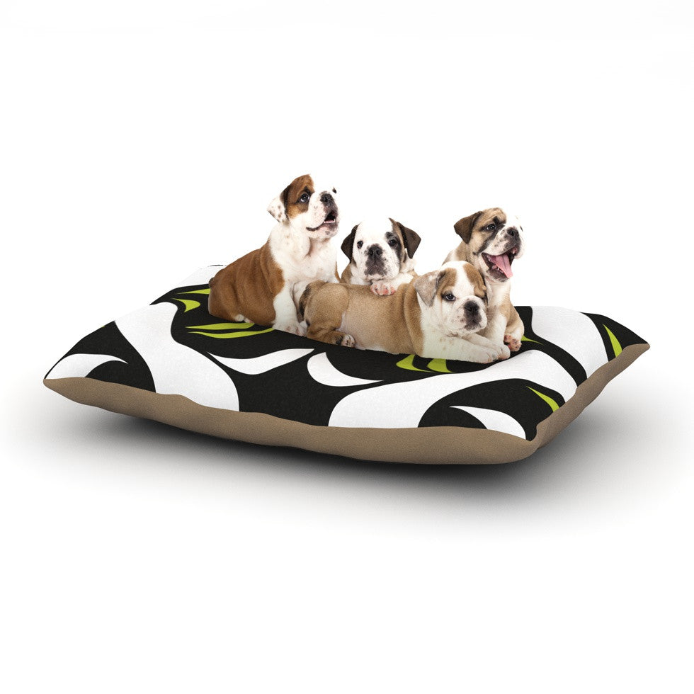 "Miranda Mol ""Green White Jaws"" Dog Bed - KESS InHouse  - 1"