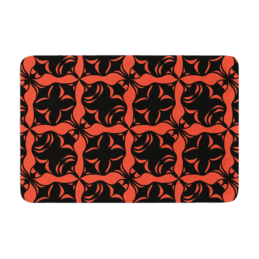 "Miranda Mol ""Oval Orange Love"" Memory Foam Bath Mat - KESS InHouse"