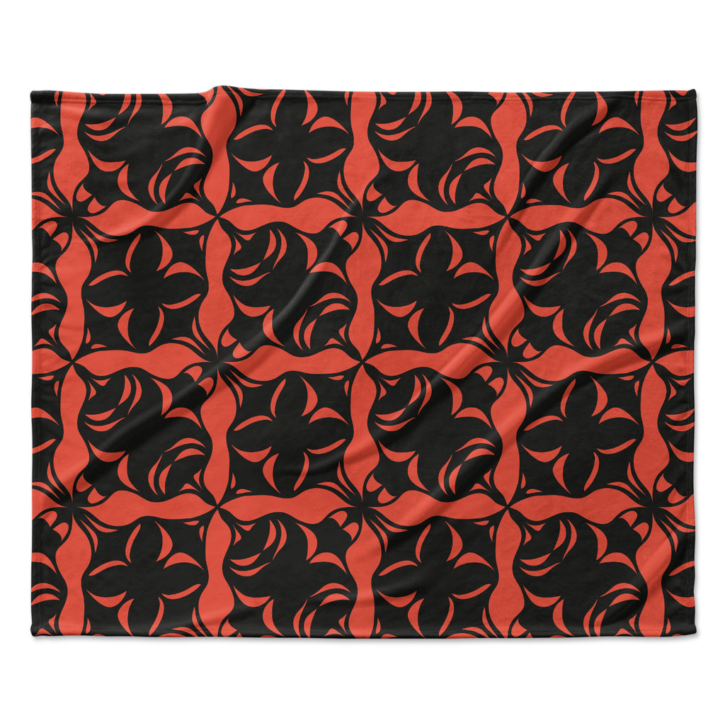"Miranda Mol ""Oval Orange Love"" Fleece Throw Blanket"
