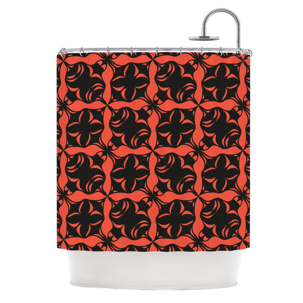 "Miranda Mol ""Oval Orange Love"" Shower Curtain - KESS InHouse"