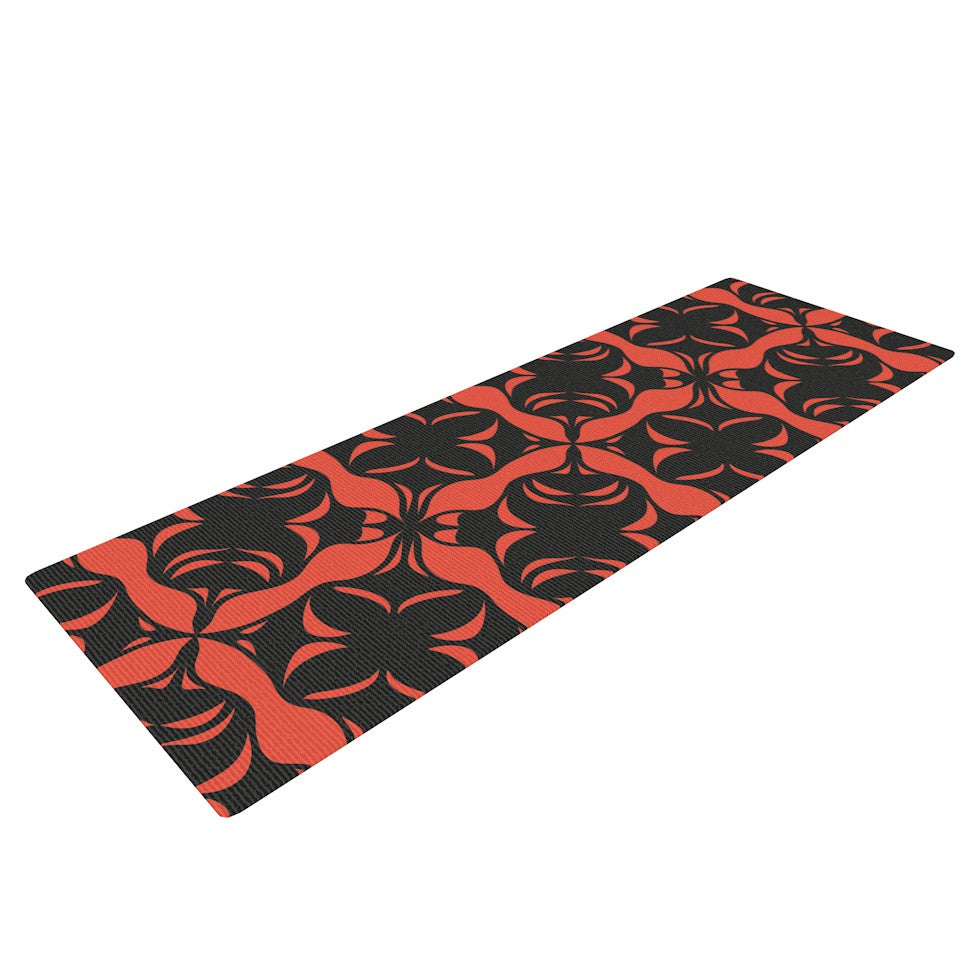 "Miranda Mol ""Oval Orange Love"" Yoga Mat - KESS InHouse  - 1"