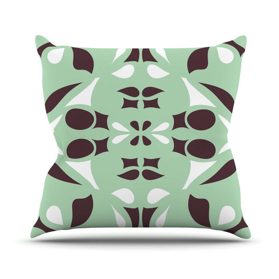 "Miranda Mol ""Swirling Teal"" Throw Pillow - KESS InHouse  - 1"