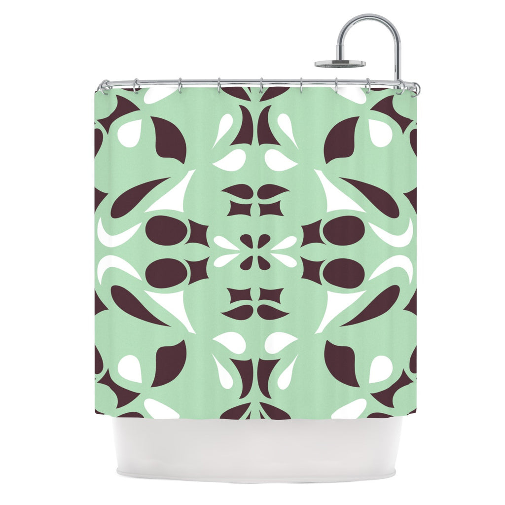 "Miranda Mol ""Swirling Teal"" Shower Curtain - KESS InHouse"