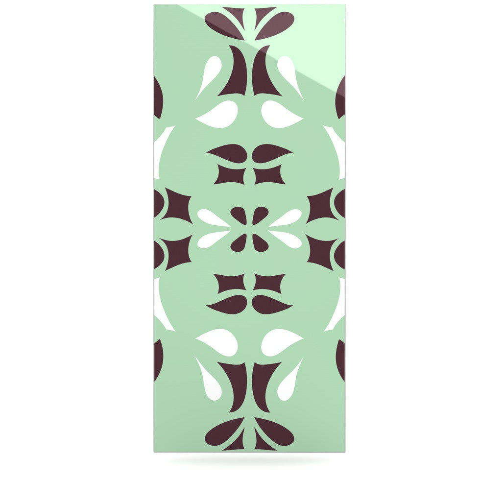 "Miranda Mol ""Swirling Teal"" Luxe Rectangle Panel - KESS InHouse  - 1"