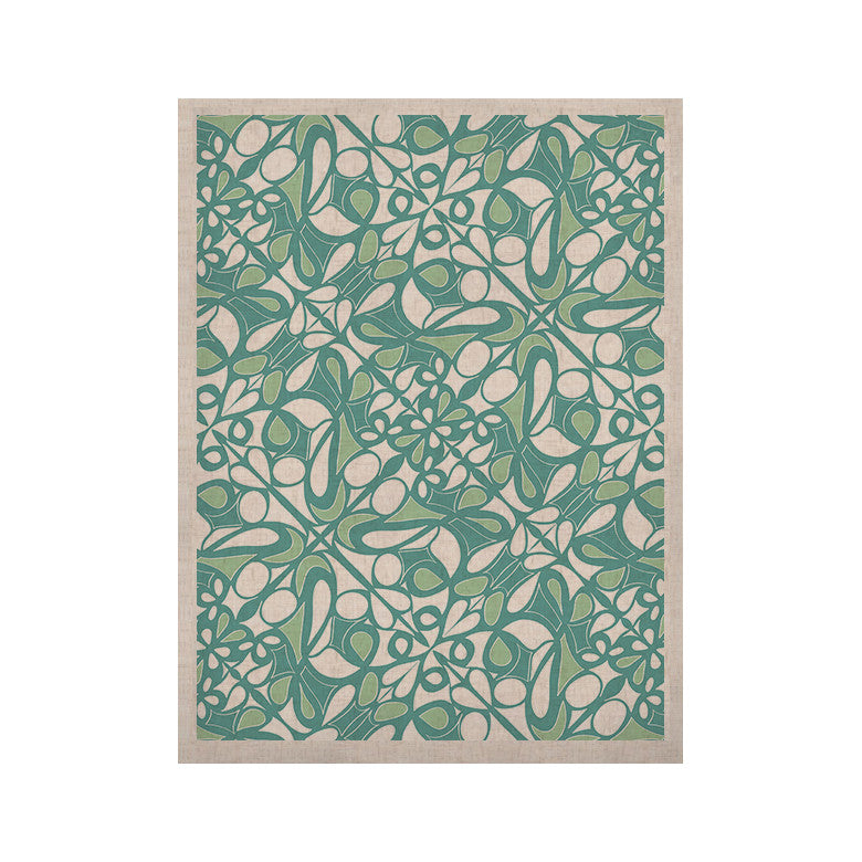 "Miranda Mol ""Swirling Tiles Teal"" KESS Naturals Canvas (Frame not Included) - KESS InHouse  - 1"