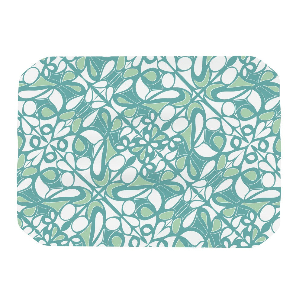 "Miranda Mol ""Swirling Tiles Teal"" Place Mat - KESS InHouse"