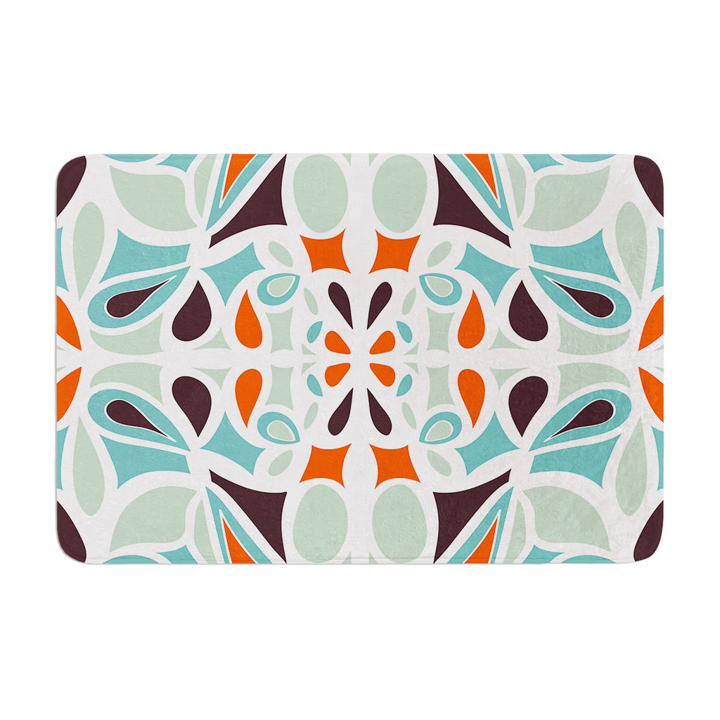 "Miranda Mol ""Orange Purple Stained Glass"" Memory Foam Bath Mat - KESS InHouse"