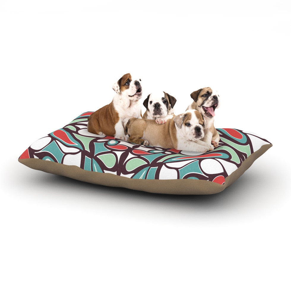 "Miranda Mol ""Brown Round Tiles"" Dog Bed - KESS InHouse  - 1"