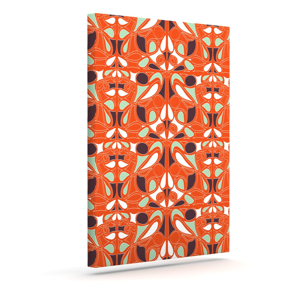"Miranda Mol ""Orange Swirl Kiss"" Outdoor Canvas Wall Art - KESS InHouse  - 1"
