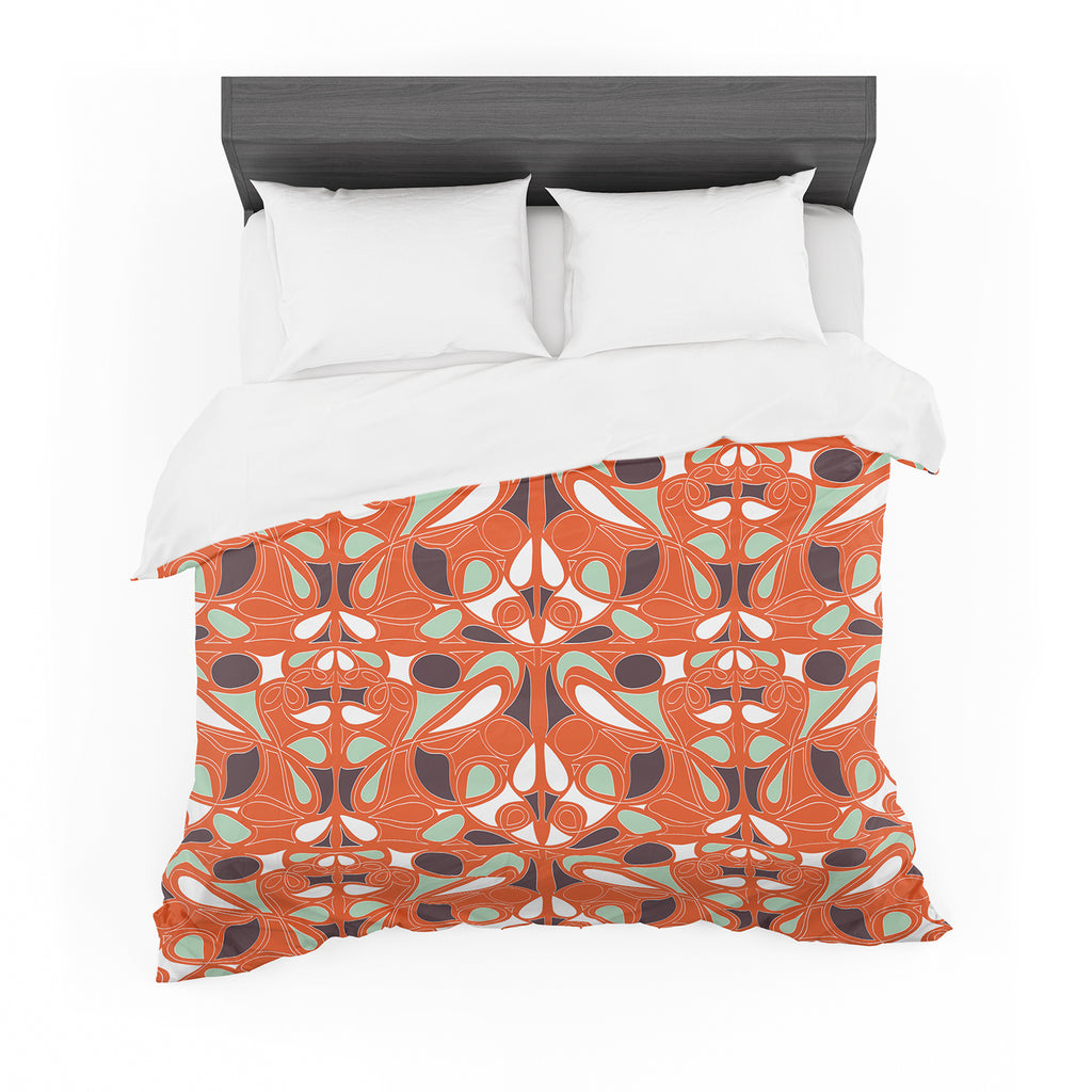 "Miranda Mol ""Orange Swirl Kiss"" Cotton Duvet"