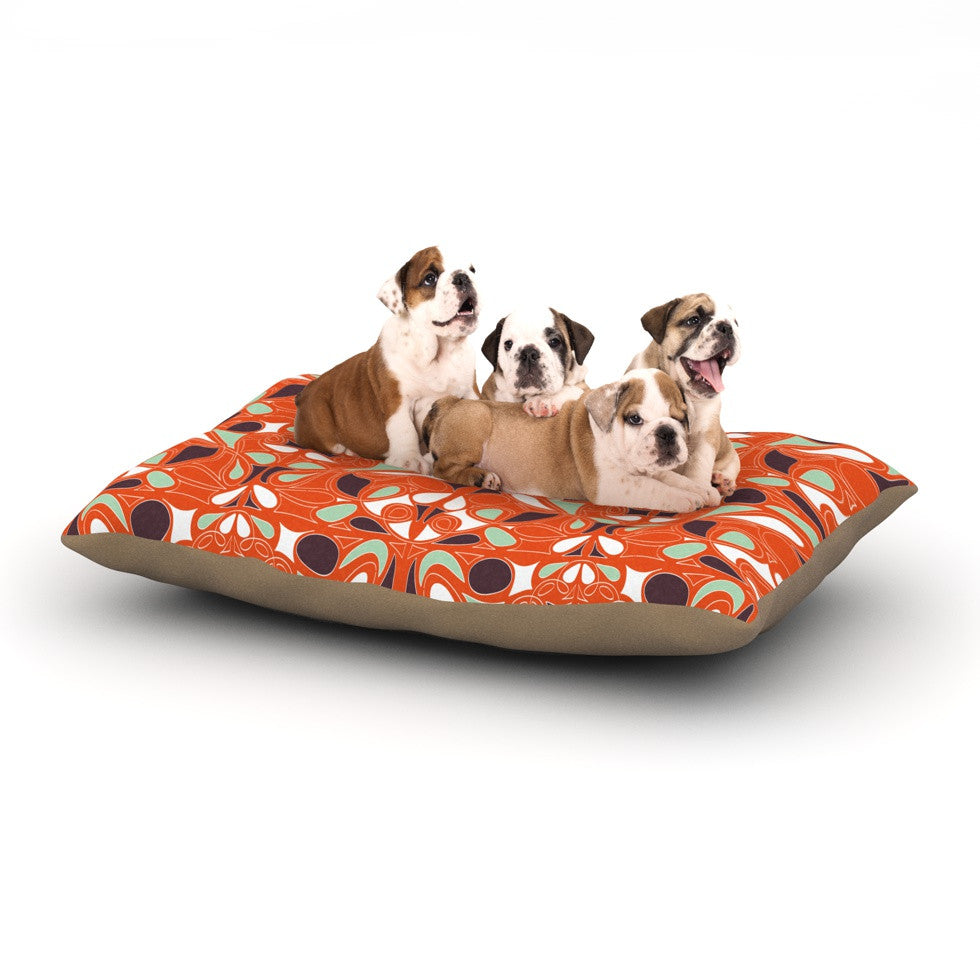 "Miranda Mol ""Orange Swirl Kiss"" Dog Bed - KESS InHouse  - 1"