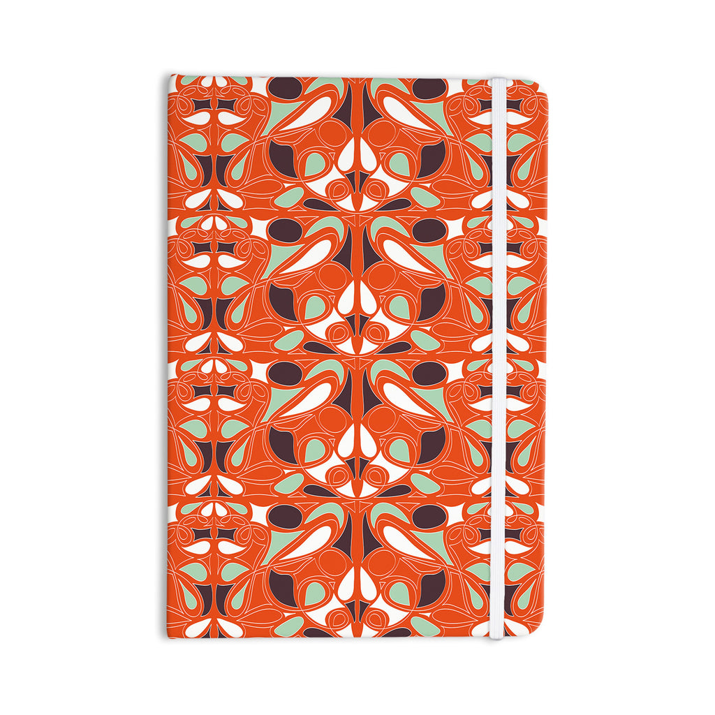 "Miranda Mol ""Orange Swirl Kiss"" Everything Notebook - KESS InHouse  - 1"