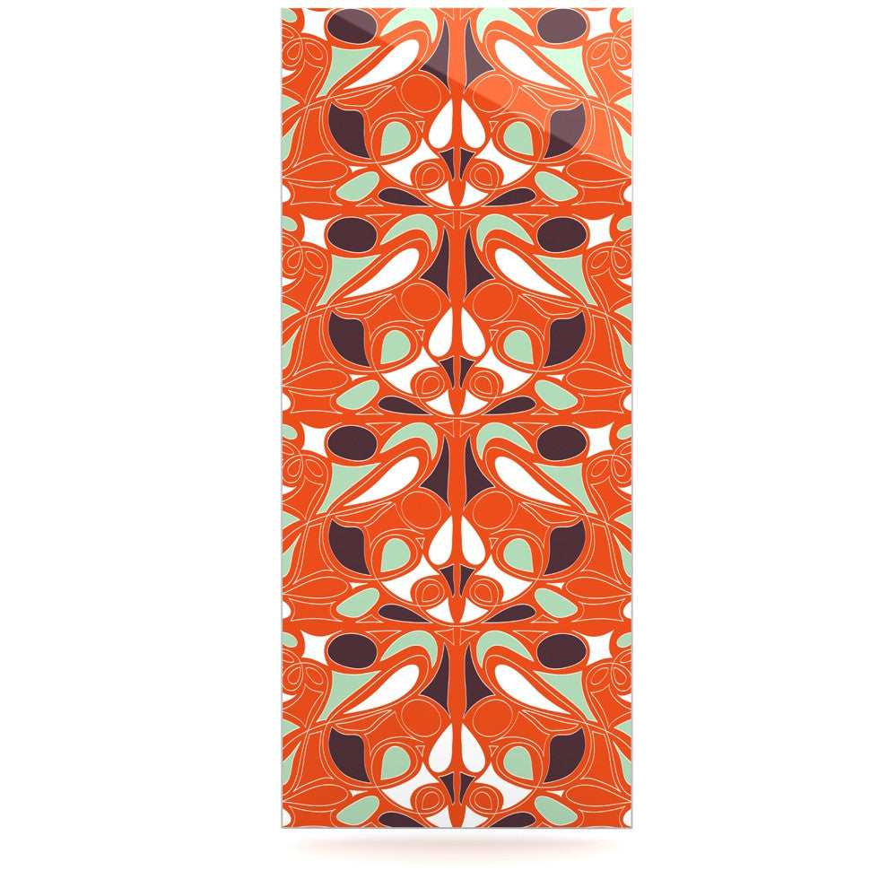 "Miranda Mol ""Orange Swirl Kiss"" Luxe Rectangle Panel - KESS InHouse  - 1"
